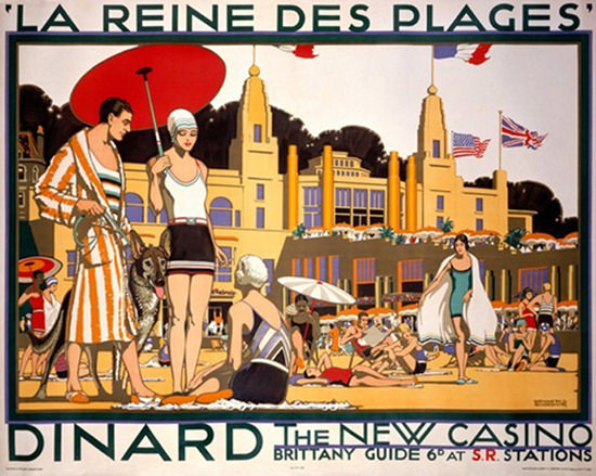 Dinard La Reine Des Plages Queen Of Beaches | Sex Appeal Vintage Ads and Covers 1891-1970