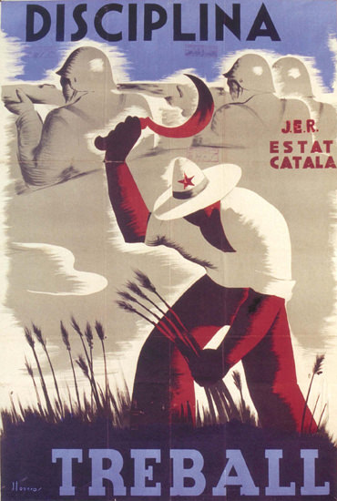 Disciplina Treball Spain Espana   Vintage War Propaganda Posters 1891-1970