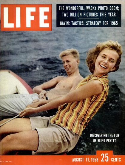 Discovering the Fun of being Pretty 11 Aug 1958 Copyright Life Magazine | Life Magazine Color Photo Covers 1937-1970