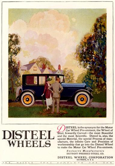 Disteel Wheels Sedan Detroit 1920 | Vintage Cars 1891-1970