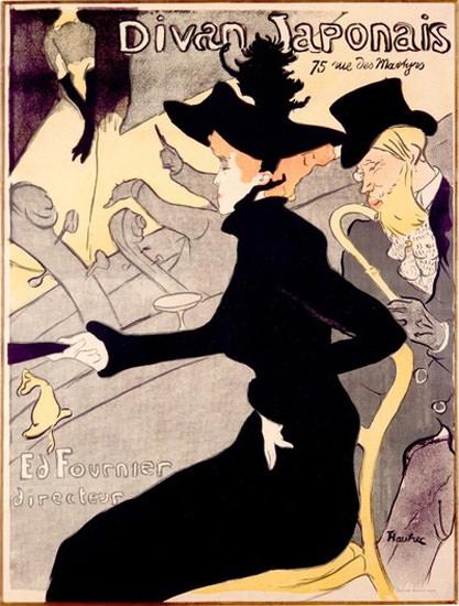 Divan Japonais Paris Henri De Toulouse Lautrec | Sex Appeal Vintage Ads and Covers 1891-1970