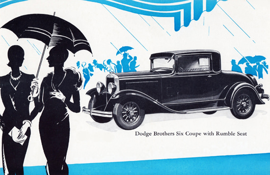 Dodge Brothers Six Coupe Rumble Seat 1930 | Vintage Cars 1891-1970
