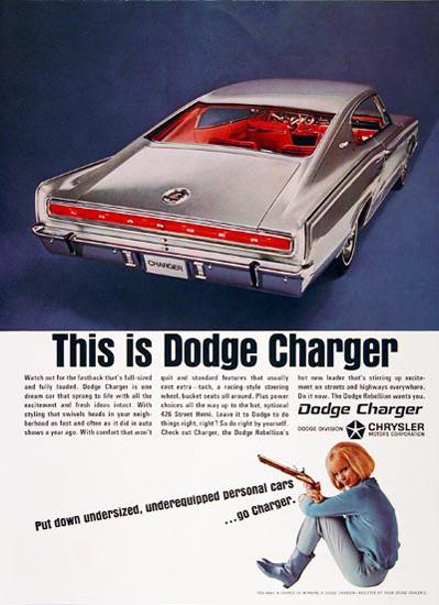 Dodge Charger 1966 Chrysler Blue Girl | Vintage Cars 1891-1970