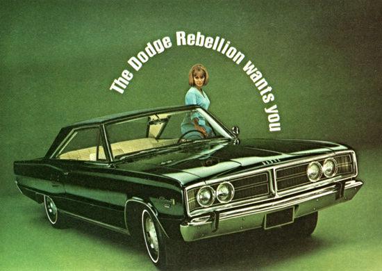Dodge Coronet 500 1966 Rebellion Wants You | Vintage Cars 1891-1970