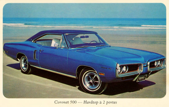 Dodge Coronet 500 1970 On The Beach | Vintage Cars 1891-1970