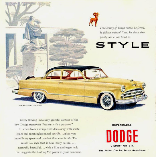 Dodge Coronet V-Eight Club Coupe 1953 | Vintage Cars 1891-1970