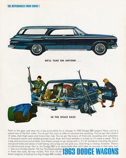 Dodge Custom 880 Station Wagon 1963 | Vintage Cars 1891-1970