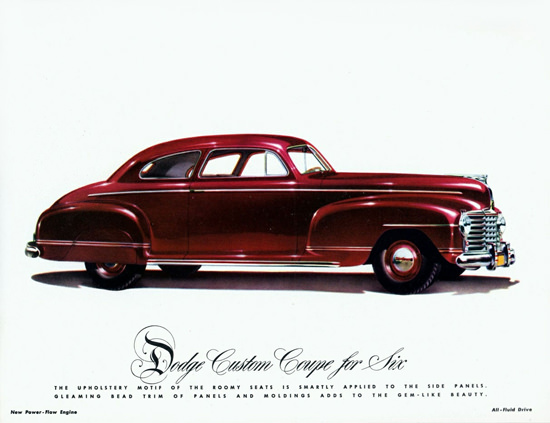 Dodge Custom Coupe For Six 1942 | Vintage Cars 1891-1970