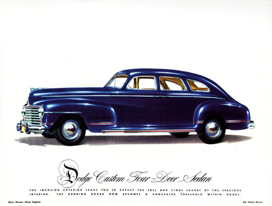 Dodge Custom Four Door Sedan 1942 | Vintage Cars 1891-1970