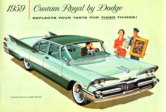 Dodge Custom Royal 4 Door Sedan Canada 1959 | Vintage Cars 1891-1970