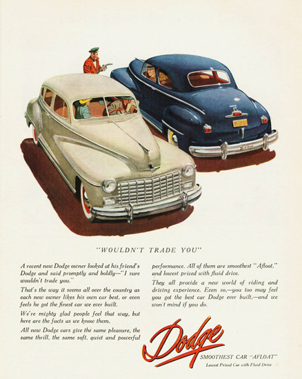 Dodge Custom Sedan Club Coupe 1948 | Vintage Cars 1891-1970