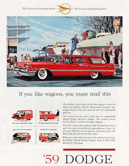 Dodge Custom Sierra Station Wagon 1959 | Vintage Cars 1891-1970