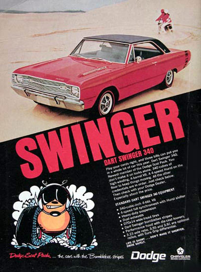Dodge Dart 340 Swinger 1963 Red | Vintage Cars 1891-1970