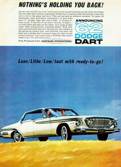 Dodge Dart Hardtop Chrysler International 1962 | Vintage Cars 1891-1970