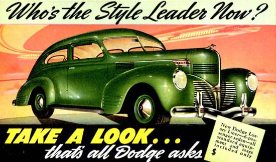 Dodge Luxury Liner 2 Door 6 Passenger 1939 | Vintage Cars 1891-1970