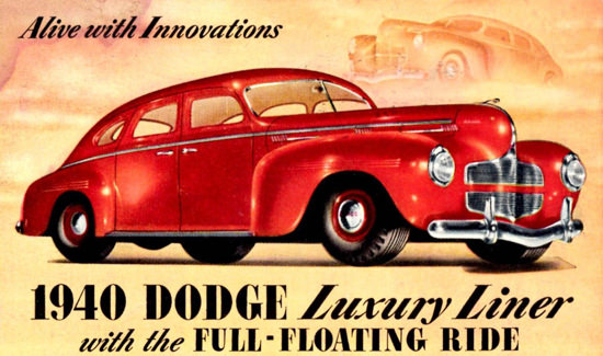 Dodge Luxury Liner 4 Door Sedan 1940 | Vintage Cars 1891-1970