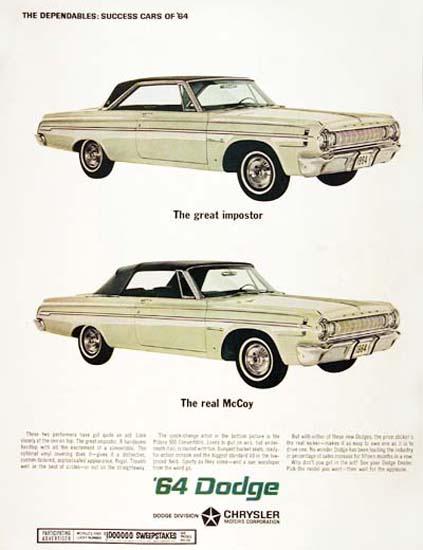 Dodge Polara 1964 Real McCoy Great Impostor | Vintage Cars 1891-1970