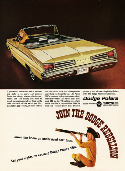 Dodge Polara 500 Convertible 1966 Rebellion | Vintage Cars 1891-1970