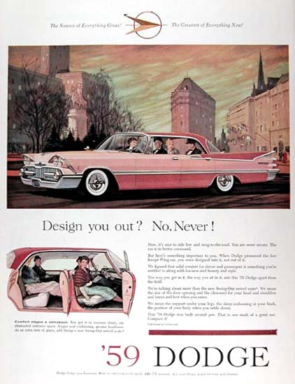 Dodge Royal Custom 1959 Pink Design You Out | Vintage Cars 1891-1970