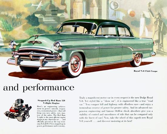 Dodge Royal V8 Club Coupe 1954 | Vintage Cars 1891-1970