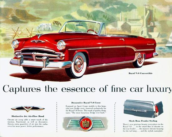 Dodge Royal V8 Convertible 1954 | Vintage Cars 1891-1970