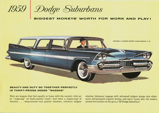 Dodge Suburbans Canada 1959 | Vintage Cars 1891-1970