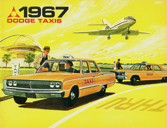 Dodge Taxis 1967 Airport | Vintage Cars 1891-1970