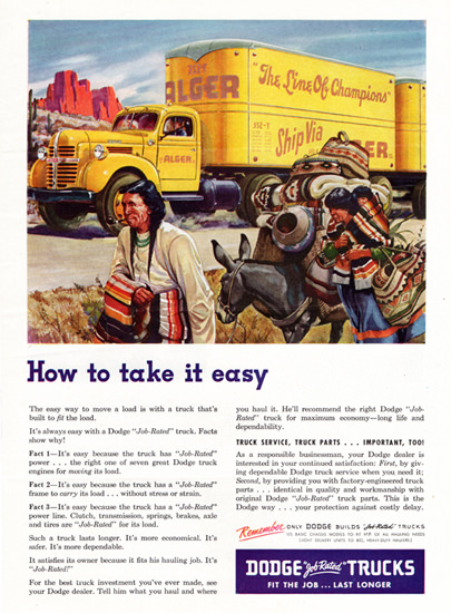 Dodge Tractor Trailer 1947 How To Take It Easy | Vintage Cars 1891-1970
