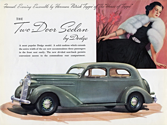 Dodge Two Door Sedan 1936 Patrick Tappe | Vintage Cars 1891-1970