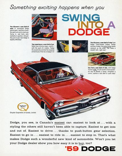Dodge Viscount Hardtop 1959 Swing In | Vintage Cars 1891-1970