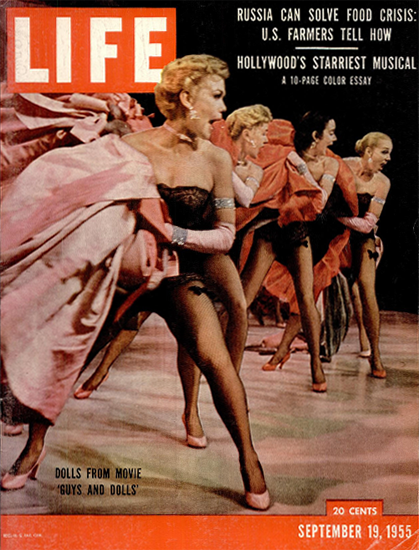 Dolls from Movie Guys and Dolls 19 Sep 1955 Copyright Life Magazine | Life Magazine Color Photo Covers 1937-1970