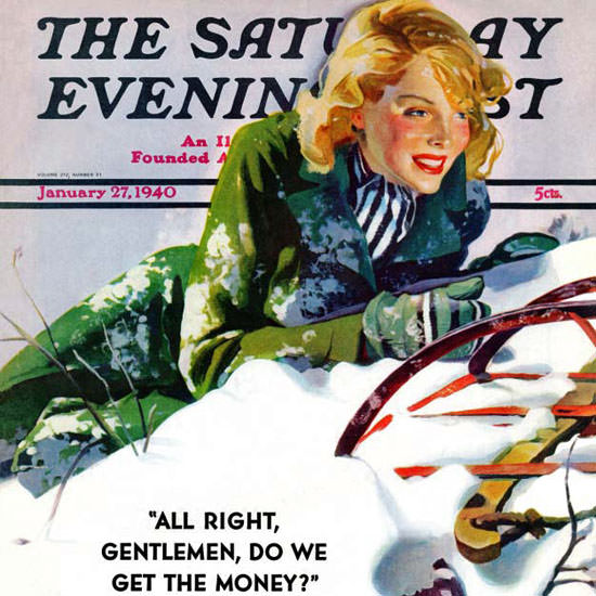 Dominice Cammerota Saturday Evening Post 1940_01_27 Copyright crop   Best of Vintage Cover Art 1900-1970