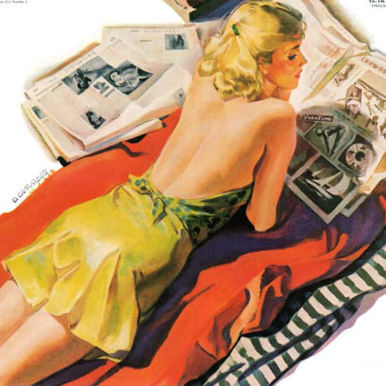 Dominice Cammerota Saturday Evening Post 1940_08_03 Copyright crop | Best of Vintage Cover Art 1900-1970