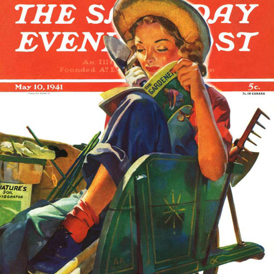 Dominice Cammerota Saturday Evening Post 1941_05_10 Copyright crop | Best of Vintage Cover Art 1900-1970