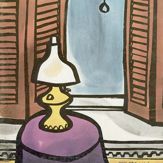 Donald Reilly The New Yorker 1969_11_22 Copyright crop | Best of Vintage Cover Art 1900-1970