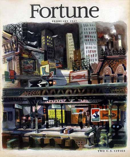 Dong Kingman Fortune Magazine February 1947 Copyright | Fortune Magazine Graphic Art Covers 1930-1959