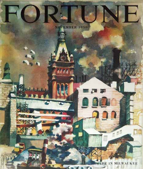 Dong Kingman Fortune Magazine November 1950 Copyright   Fortune Magazine Graphic Art Covers 1930-1959