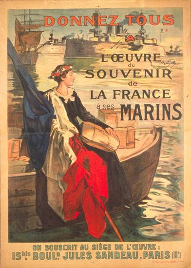 Donnez Tous A L Oeuvre Du Souvenir Les Marins | Vintage War Propaganda Posters 1891-1970