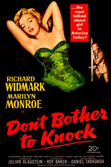 Dont Bother To Knock Marilyn Monroe Movie 1952 | Sex Appeal Vintage Ads and Covers 1891-1970