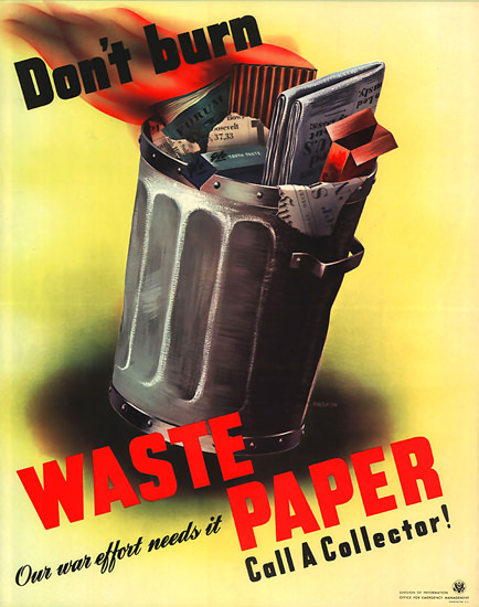 Dont Burn Collect | Vintage War Propaganda Posters 1891-1970