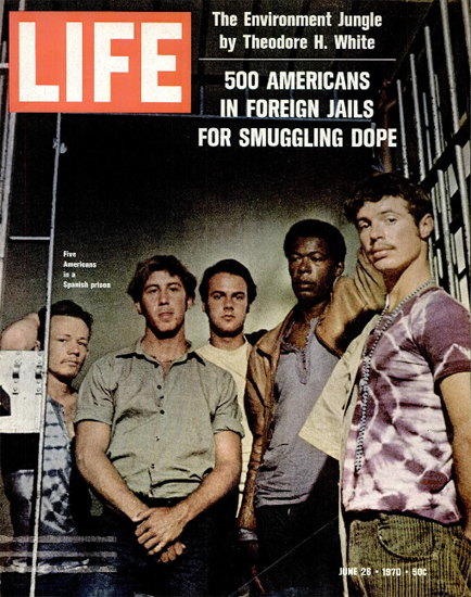 Dope Americans in a Spanish Prison 26 Jun 1970 Copyright Life Magazine | Life Magazine Color Photo Covers 1937-1970
