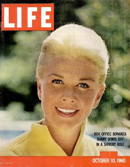 Doris Day at Bonanza 10 Oct 1960 Copyright Life Magazine   Life Magazine Color Photo Covers 1937-1970