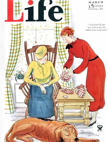 Dorothy McKay Life Humor Magazine 1934-03 Copyright | Life Magazine Graphic Art Covers 1891-1936