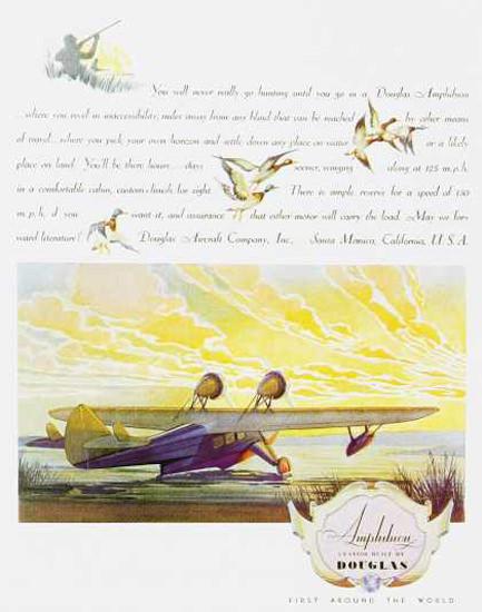 Douglas Amphibion 1930s | Vintage Travel Posters 1891-1970