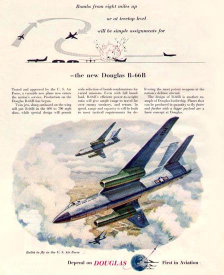 Douglas B-66B Bomber 1953   Vintage War Propaganda Posters 1891-1970