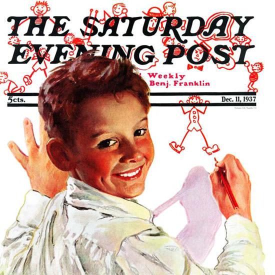 Douglass Crockwell Saturday Evening Post 1937_12_11 Copyright crop   Best of Vintage Cover Art 1900-1970