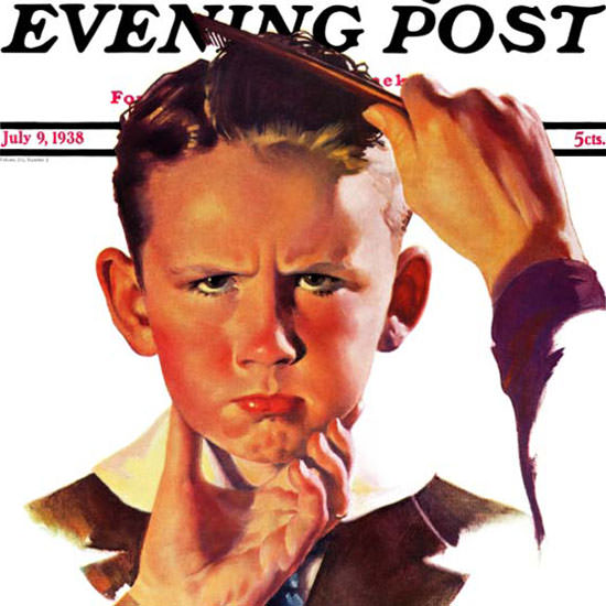 Douglass Crockwell Saturday Evening Post 1938_07_09 Copyright crop | Best of Vintage Cover Art 1900-1970
