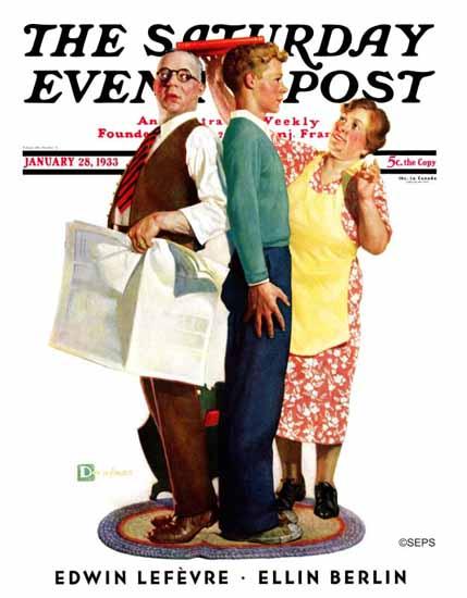 Douglass Crockwell Saturday Evening Post Comparison 1933_01_28 | The Saturday Evening Post Graphic Art Covers 1931-1969