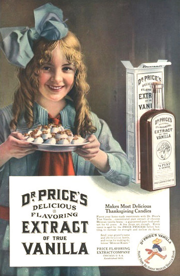 Dr Prices Vanilla Extract | Vintage Ad and Cover Art 1891-1970
