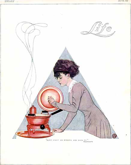 Dreams Are Made On Life Humor Magazine 1909-07-29 Copyright | Life Magazine Graphic Art Covers 1891-1936